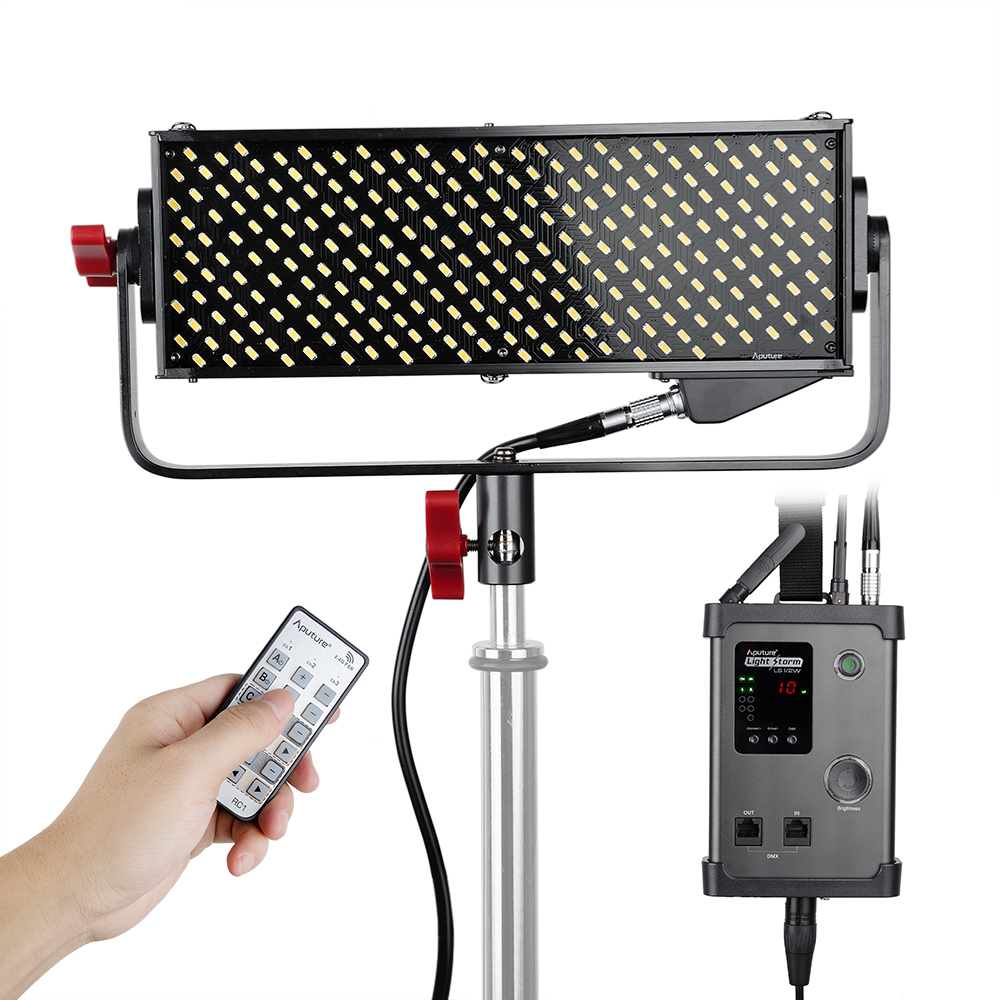 Original Aputure Light Storm LS 1/2w 264 SMD LED Video Light Panel High CRI 95+ 5500K w/ 2.4G Remote Control with A-mount Plate aputure ls c300d cri 95 tlci 96 48000 lux 0 5m color temperature 5500k for filmmakers 2 4g remote aputure light dome mini