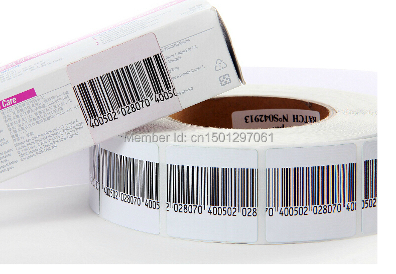 Free Shipping High Sensitivity EAS Rf 8.2mhz Soft Label Barcode 3*4cm 4*4cm 1000pcs
