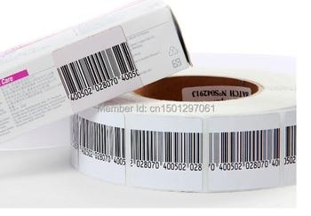 цена на Free Shipping high Sensitivity EAS rf 8.2mhz soft label barcode 3*4cm 4*4cm 1000pcs