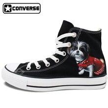 Men Women Brand Shoe Sneakers Converse Chuck Taylor Custom Design Pet Dog Hand Painted Canvas Shoes Athletic Skateboard