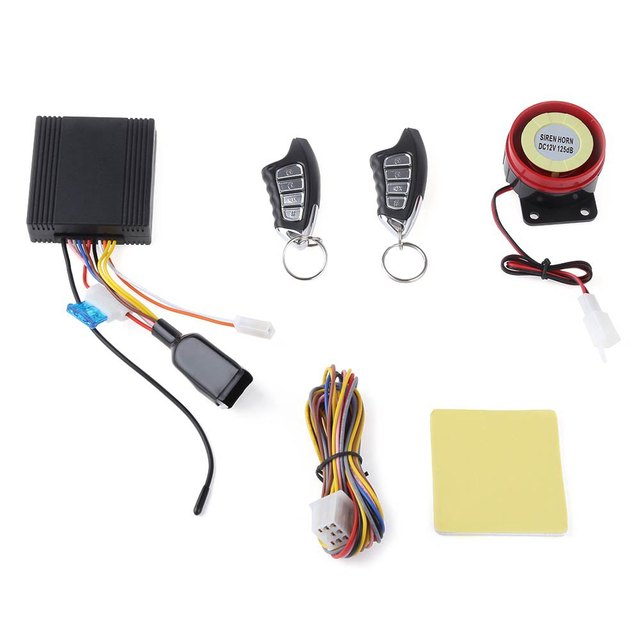 2016 LM898FS Universal Remote Central Kit Water Resistance One-way Motorcycle Burglar Alarm System with 4 Buttons Remote Control