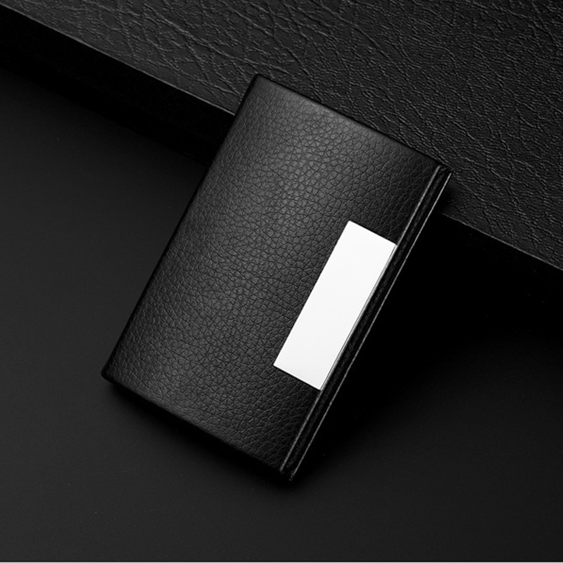 Metal business card holder mini name card holder small credit card metal business card holder mini name card holder small credit card travel wallet man id holders stainless pu cover cardholder in card id holders from colourmoves
