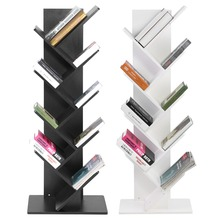 Modern 9 Tier Bookshelf Bookcase Books CDs Display Storage Rack Shelf Organization Cabinet
