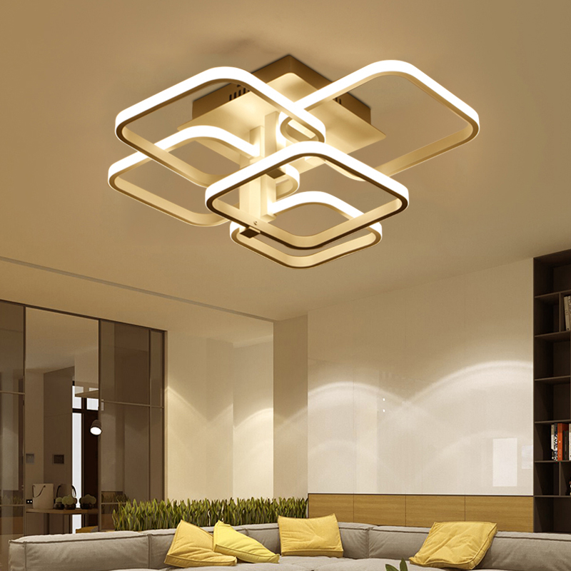 Modern  industrial Aluminum painted Nordic Ceiling Lights Plafonnier LED 220V ceiling Lamp For Living Room bedroom study office|Ceiling Lights| |  - title=