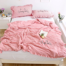Soft Comfortable Quilts Bed Quilt Comforter Washable Quilted Adults Bedding Colorful Duvet Summer not include pillowcase