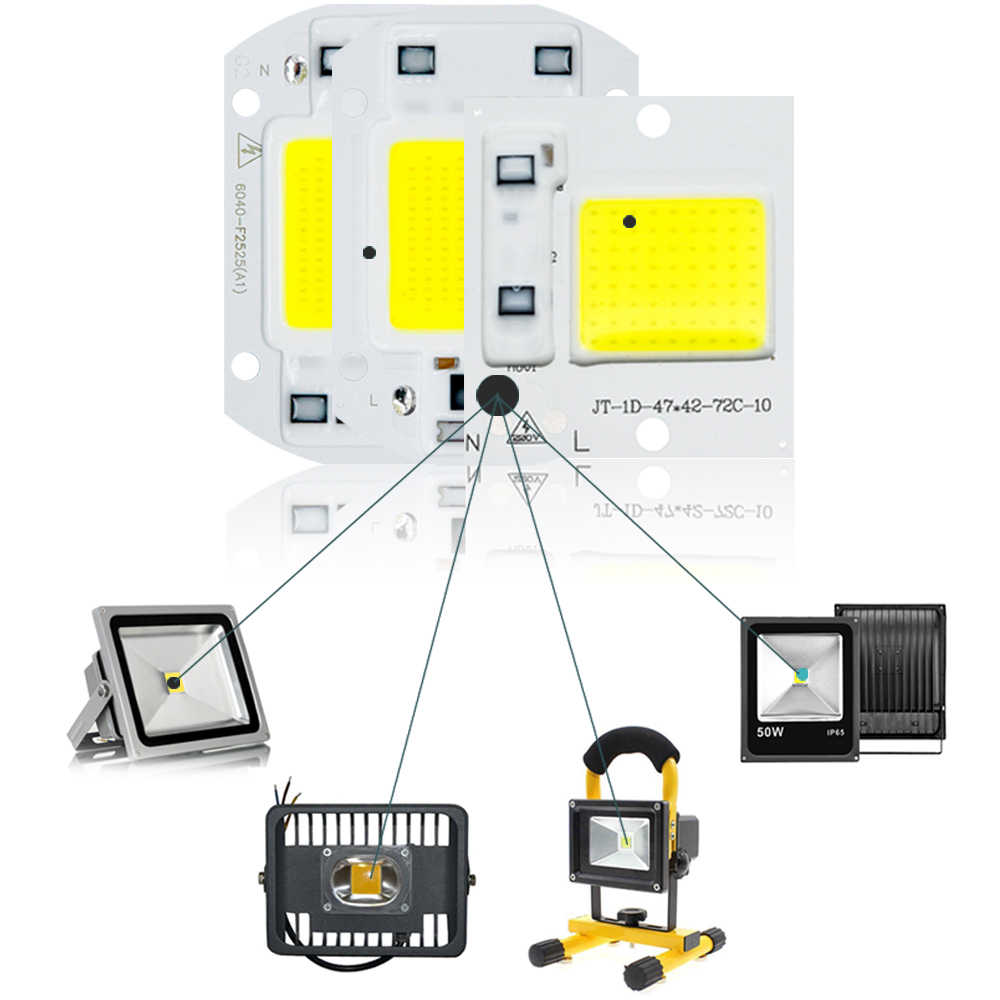 COB LED Chip Light 220V 50W 20W 30W 10W 3W 5W 7W rectangular Chip For Spotlight Led Floodlight Lamp Not Need Driver DIY Lighting