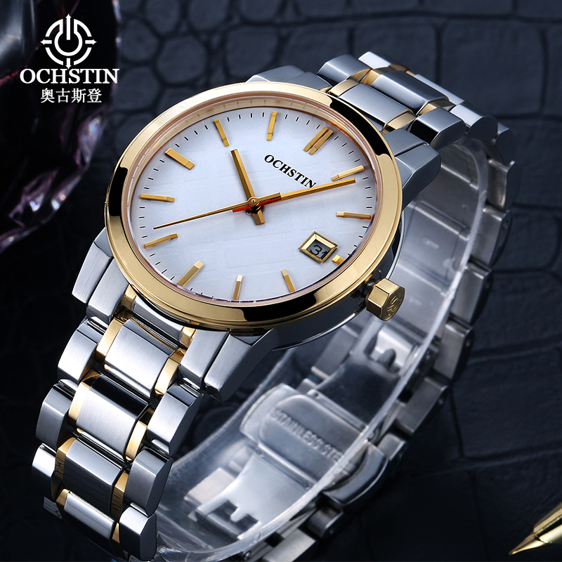 2016 New Ochstin Luxury Women Watch Stainless Steel Quartz Hours Clock Ladies Fashion Casual Dress Watches