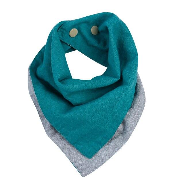 Baby Bibs Bandana Cotton Linen High Quality Babadores Para Bebe Infant Saliva Towel for Boys and Girls