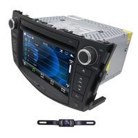 Радио мультимедийный автомобильный dvd плеер для Toyota Previa RAV 4 2006 2012 gps навигационный монитор руль dab + BT Бесплатная Камера 8G карта