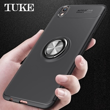 TUKE Luxury Soft TPU Phone Case For OPPO F1 Finger Holder Rotated Ring Cover  Funda For OPPO R9 R 9 Coque Capa 87da5aac4b91