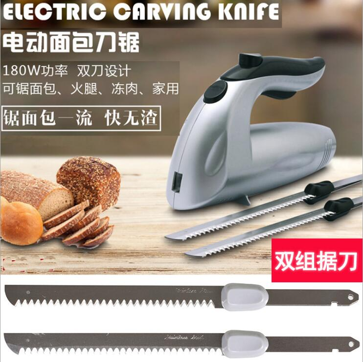 EU Plug Electric Bread Knife Toast Slicing Knives Stainless Steel Frozen Meat Cutter Ham Cake Slicer Baking Pastry Cutter нож victorinox outrider 0 9023 3