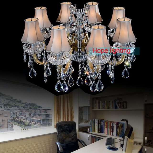 lamp 8 light iron chandelier glass arms chandelier fabric lamp ...