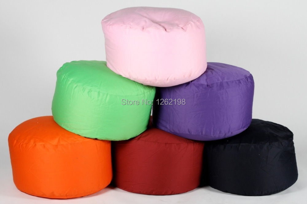 EASY CARRY many color Foot stool ottoman cover pouf round furniture pouffee floor cushion deco free shipping-in Stools u0026 Ottomans from Furniture on ... : round foot stools - islam-shia.org
