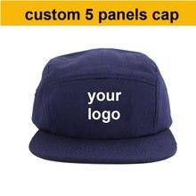 ¡Venta al por mayor de fábrica! 50% 60% de descuento, gorra con logo personalizado, cinco tapas de paneles, snapback, haga su diseño