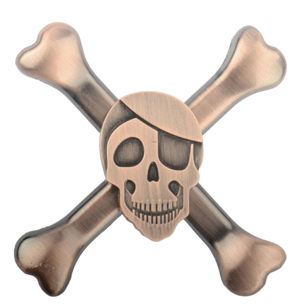 New Design Skull Head Metal EDC Hand Spinner For Autism and ADHD Spinner Long Time Anti Stress Toys