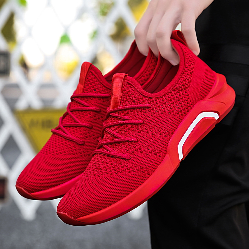 02473fb8e8 2018 New gray black red men sneakers more breathable mesh summer ...