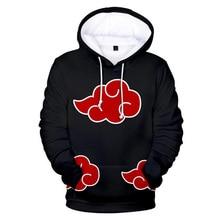 Japan Anime Naruto Akatsuki Red Cloud 3D Print Hoodie for Men Women Hooded Sweatshirt Winter Fashion Casual Tracksuit Cool Tops