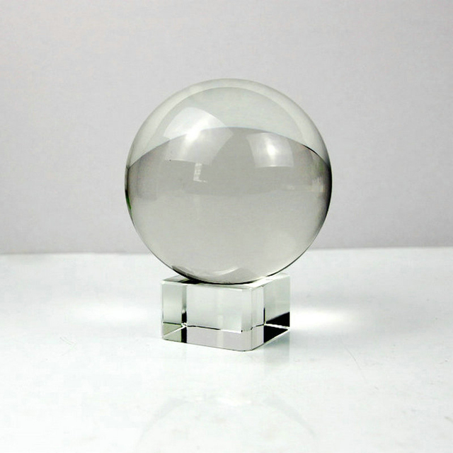 Pure 8cm Magic Crystal Ball Glass Orb Sphere Photography Auxiliary