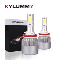 2 Pcs Car Headlight Bulbs LED H4 H1 H3 H7 H8 H9 H11 9005 9006 6000K