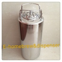 18.5L Brand New Stainless Steel 304 Ball Lock Cornelius style Beer Keg , Closure Lid with Pressure Relief Valve