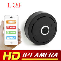 1 3MP HD 1080P VR Wifi Camera Fisheye 360 Degree Surveillance IP Camera MINI Wireless Security