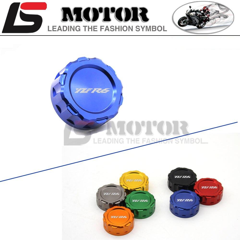 где купить  CNC Aluminum Motorcycle Rear Brake Reservoir Cover Cap FOR R6 Yamaha YZF-UP 2009 2010 2011 2012 2013 2014 2015 2016  по лучшей цене