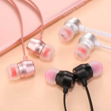 qijiagu 3.5mm Universal Wired In-Ear headset Stereo Headset Common  Bass With Mic