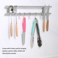 Magnetic Kitchen Tools Accessories Knife Holder With 5 Hooks For Block Magnet Knives Organizer