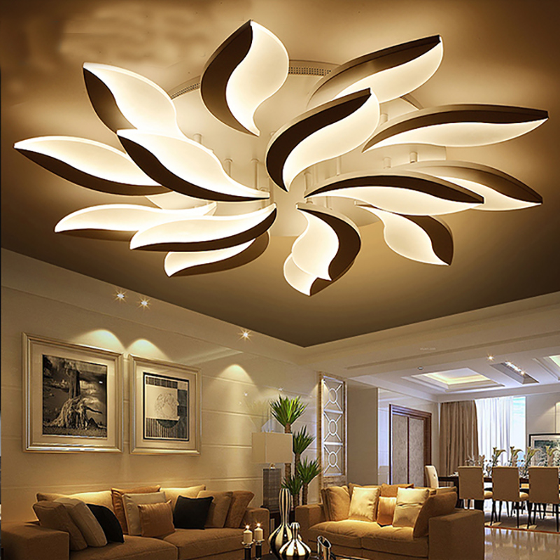 modern led ceiling lights lampshade white living room foyer fixtures bedroom lamp kitchen plafonnier luminarias lighting