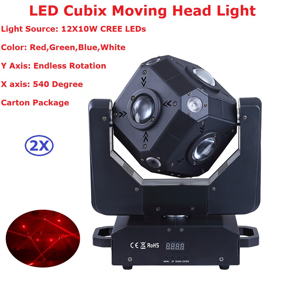 2Pcs/Lot New Arrival 150W LED Moving Head Beam Lights High Quality 12X10W RGBW 4IN1 LED Cubix Moving Lights For Party Disco Dj