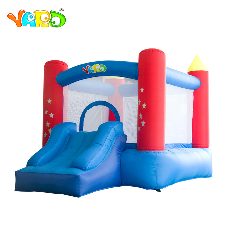 YARD Inflatable Bouncer Castle Jumping Trampoline House with Slide Blower Free PE Balls Ship Express Door To Door Christmas Gift