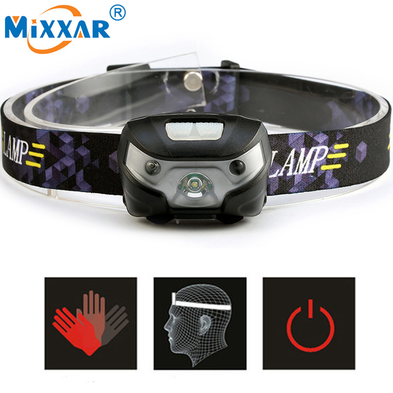 SEZK20 Mini Rechargeable LED Headlamp 4000Lm Body Motion Sensor Headlight Camping Flashlight Head Light Torch Lamp With USB