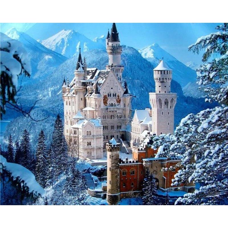 Новое поступление 5D полный квадрат/круглая Алмазная Картина Вышивка крестом снег горы и вышивка алмазный замок Алмазная мозаика KBL|Алмазная роспись, вышивка крестом|   | АлиЭкспресс