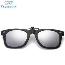 7be96ba5ae Hombres Full Frame polarizada Clip en gafas de sol de los hombres de las  mujeres UV400 miopía Filp en sol gafas de visión noctur.