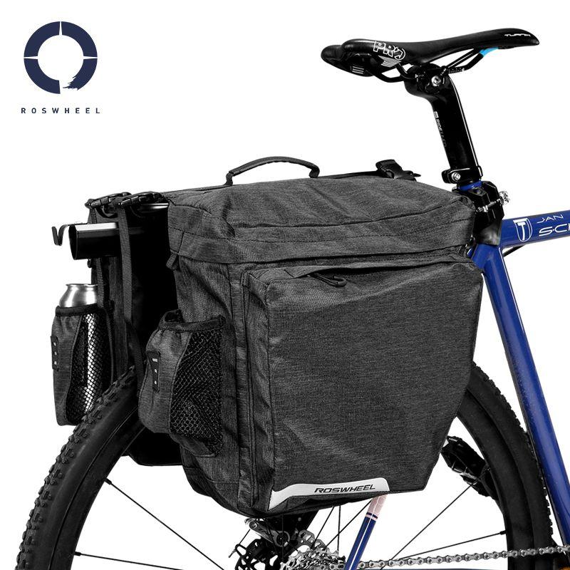 ROSWHEEL 2018 Bike Bag Bicycle Bag 22L MTB Rear Rack Pannier Cycle Cycling Bags Bycicle Accessories Waterproof