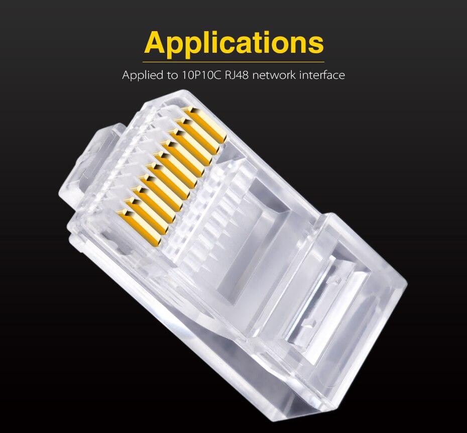 10p10c Plug Wiring Diagram Rj48 30pcs Rj45 Rj50 Cat5e Utp Ethernet Connector Network10p10c 19