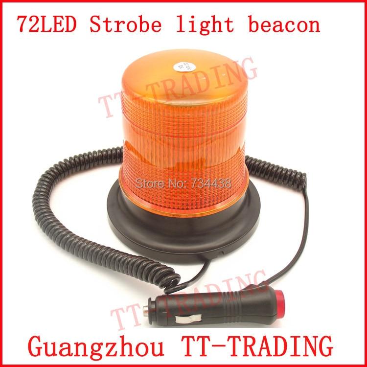 DC12V 72LED strobe light beacon police Warning light traffic signal lamp emergency strobe beacon with magnet Amber red blue
