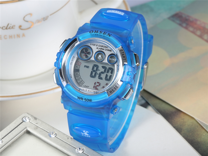 OHSEN Fashion Children Sports Watches Waterproof 5ATM Kids LED Digital Watch Student Outdoor Hand Electronic Clock Montre Femme (33)