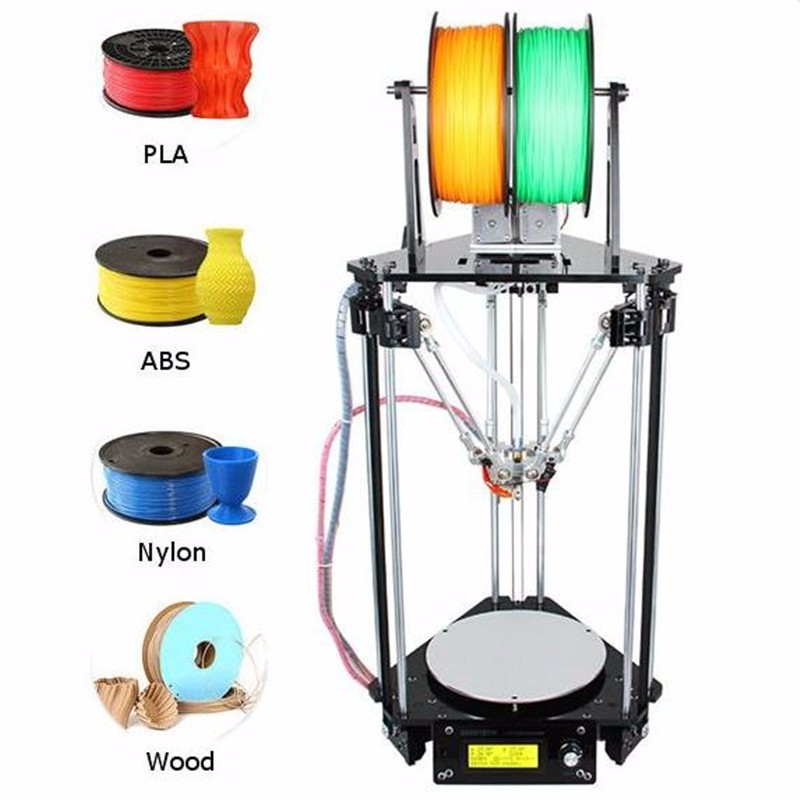 DIY Geeetech Delta Rostock Mini G2s Dual Extruder 3D Printer Kit With Auto leveling 3D Printers