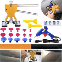 Car Dent Puller Kit PDR Paintless Dent Repair Tools and Glue Sticks for Auto Body Dents Dings Hail Damage Removal Tool set