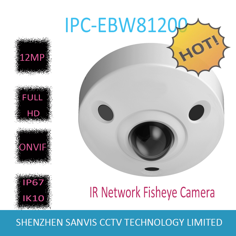 Free Shipping 2016 NEW DAHUA IP Camera 12MP Ultra HD IR Network Fisheye Camera IP67 IK10
