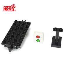 Funlock Duplo Carriage Base 1pc Railway Block Assembling Parts Educational Gift Present font b Toys b