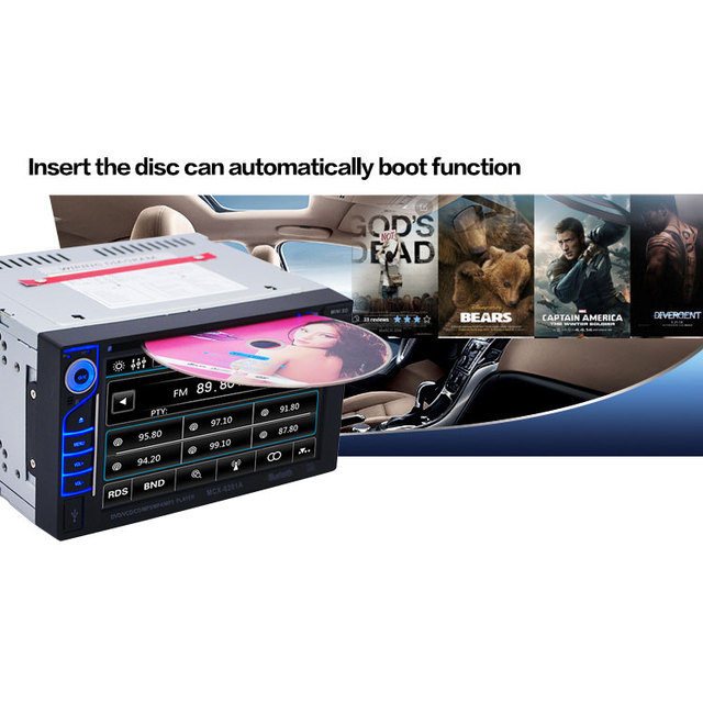 Hot DVD Player 6201A 6.2 Polegada DVD Player Do Carro DVD Áudio SB/SD Bluetooth 2-Din Car CD Player + Camera 170 Graus de Largura ângulo