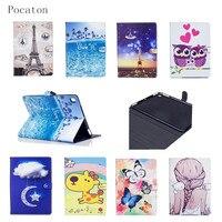 Pocaton Luxury Owls Girl PU Leather Cover For Apple IPad Air1 2 For IPad 2 3