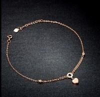 Браслет из розового золота Italy18k/цепочка со звеньями сердечками/2g Горячая Распродажа