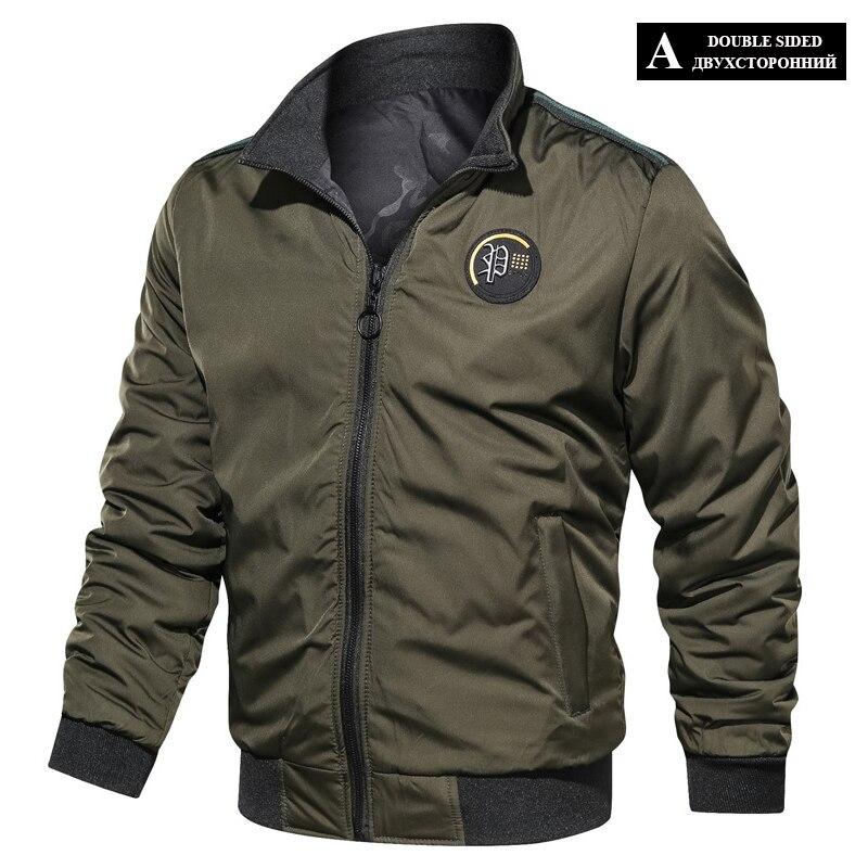 HTB1EQyMXpP7gK0jSZFjq6A5aXXa6 LBL Casual Bomber Jacket Men Slim Fit Autumn Winter Double Side Mens Military Jackets Outwear Coat Man Sportswear Tracksuit 2019