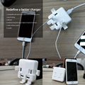 For iPhone 4 5 6 7 s plus 49% off Sale YCDC Office Travel Charger Power Adapter 4 Ports USB Socket UK/US/EU Wall Plug