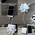 Para iphone 4 5 6 7 s mais de 49% fora da venda ycdc escritório Power Adapter Carregador de Viagem 4 Portas USB Soquete REINO UNIDO/EUA/UE Plugue De Parede