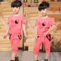 new children's girl clothing set summer sports suit  cotton modal cotton Lace Rhinestone Decoration girls clothing sets HES