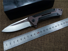 D2 складной нож ZT 0801CF сталь + углерода выдумщик ручка шариковые подшипники флиппер открытый тактический нож EDC отдых на природе ножи